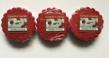 Yankee Candle CHERRIES ON SNOW TARTS WAX MELTS X 3 VHTF ITEM