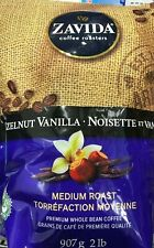 ZAVIDA HAZELNUT VANILLA WHOLE BEAN COFFEE MEDIUM ROAST 907g/2 LBS 1 BAG