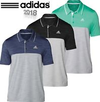 ADIDAS ULTIMATE 365 HEATHER MENS PERFORMANCE GOLF POLO SHIRT