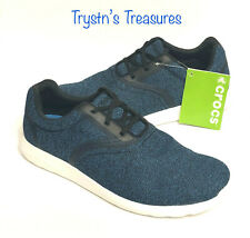 CROCS Men's Kinsale Static lace Shoes Size 12, 13 Navy/White NEW WITH TAGS