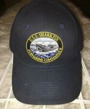 USS SHARK FIN SUBMARINE COMMANDER Ball Cap 1 Size fits all