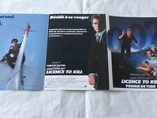 JAMES BOND - TIMOTHY DALTON - LICENCE TO KILL FRENCH TRIFOLD VINTAGE FLYER !!!