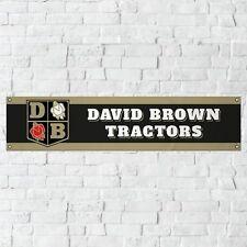 David Brown Banner Garage Workshop PVC Sign Vintage Tractor Farming Display