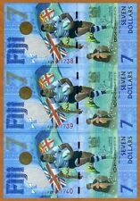 SET FIJI, 3 x $7, 2017, Consecutive Trio, P-New, UNC > Commemorative