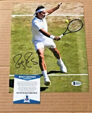 ROGER FEDERER SIGNED 8X10 TENNIS PHOTO BECKETT CERTIFIED #18
