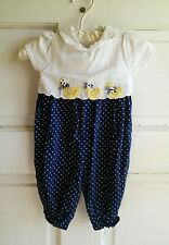 Baby Jumper cute ducks classic summer fall  B.T. Kids Girls size 3 - 6 mos