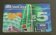 1997 $5 - VISA CASH CARD - VAN CITY BANK - CANADA -RARE - MINT