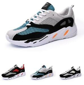 Mens Fashion Sneakers Shoes Outdoor Running Sports Gym Mesh Breathable Casual
