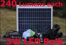 Solar 4X 3W LED Bulb 960 Lumens Lighting System for Home Caravan Camping Boat