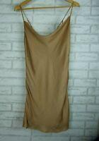Bardot Slip Evening dress Sz 10 Nude beige