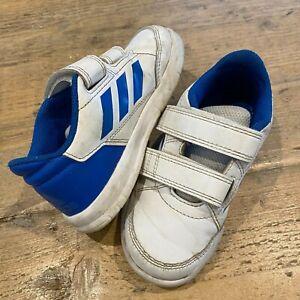 Adidas  Alta Sport CF infant Boys Trainers Shoes White/Blue N6YHC UK 8 8K EU 25