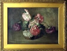 FRANK CONVERS MATHEWSON Oil on Canvas Painting Poppies 1897 Rhode Island Artist