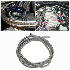 Car Racing AN6 Stainless Steel Braided Fuel Coolant Line Hose Oil Cool Tube 1M
