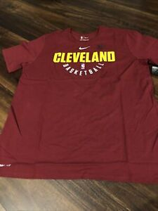 New Nike Cleveland Cavaliers Mens Shirt Short Sleeve Size 2XL Maroon Gold