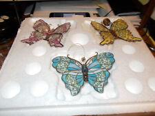 Bradford Exchange Heirloom Porcelain Ornament Collection Butterflies