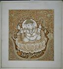 Hand-Painted Lord Ganesha Painting Finest Miniature Gouache Artwork On Paper