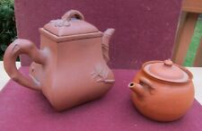 2 OLD YIXING ZISHA TEAPOT