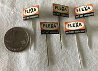 Lot of 5 Flexa Verf Met Voldoening Holland Dutch VTG Stickpins Pin Pinback 37378