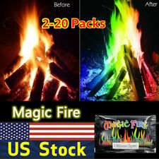 Mystical Fire Coloured Magic Flame for Bonfire Campfire Fireplace Flames Powder