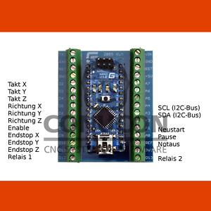 3D USB CNC Schrittmotor-Steuerung Vanilla m. Software stepper controller Arduino