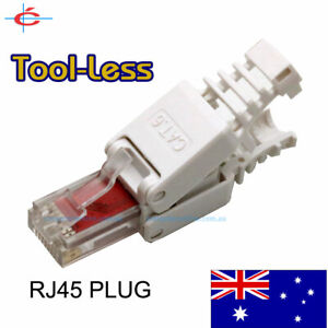 3 Pieces Reusable RJ45 CAT6 Network Plug ToolLess NBN / LAN Connector
