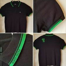 mens gio goi black collared polo shirt size l casual wear
