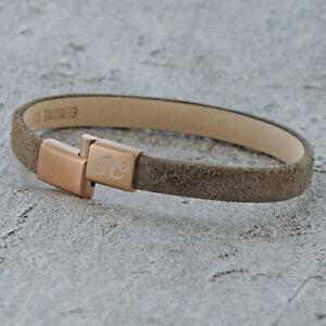 Womens personalised Brown ID Leather Bracelet