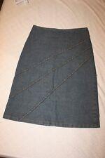 Da Moda Lightweight Denim Embroidered Stripe Jean Skirt Size S (26X21.5)