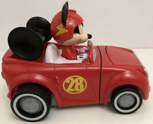 Mickey Mouse Hot Rod Transforming Car 2016 Mattel Plastic Roadster Racers