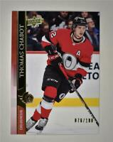 2020-21 UD Series 2 Base Exclusives #379 Thomas Chabot /100 - Ottawa Senators