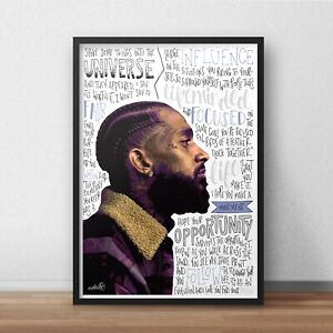 Nipsey Hussle Poster / Print / Wall Art A4 A3 / Double Up / Victory Lap / Rapper