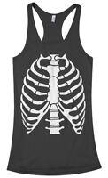 Skeleton Rib Cage Halloween Costume Women's Racerback Tank Top