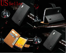 Luxury Flip Leather Case Wallet Pouch Cover For Nexus 4 LG / Google New