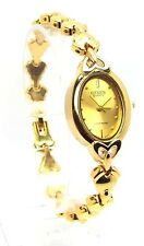New Citizen Ladies Gold-tone, Gold Oval- dial Dress Watch