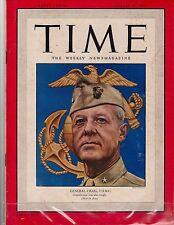 Time  Magazine 1950,  August 14,  General Craig, U.S.M.C. (War in Asia)