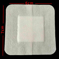10x 6cmX7cm Non-woven Adhesive Wound Dressing Large Ban Bandage D4M8 aid P5X4