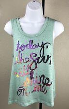 Juniors Self Esteem Multi-Color Beach Vacation Women Tank Top Medium T-Shirt Tee