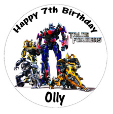 """Transformers Personalised Cake Topper 7.5"""" Edible Wafer Paper"""
