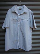 Kathmandu Men's Pale Blue Short Sleeve Shirt Press Studs Measured Chest 112 cm