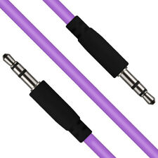 Violet 3.5mm Stéréo Jack à Jack Casque Audio Câble aux Son Câble Fil Cordon
