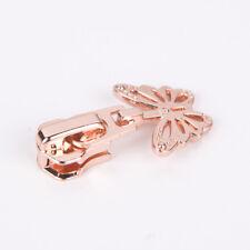 20pcs 5# Rose Gold High-end ZIPPER Head With Butterfly Slider