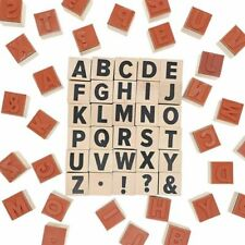"2-Sets (60 Pieces) 1"" Wood Alphabet Letter Symbol Stamp for Crafts Scrapbooking"