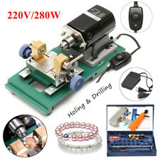 280W Pearl Drilling Holing Machine Driller Jewelry Punch Tools Full Set 220V US