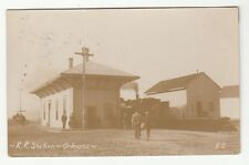 1909 Real Photo Postcard Railroad Station Orleans, Massachusetts, Cape Cod
