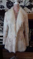 Alla Moda Donna Cappotto In Pelliccia Sintetica Misura 14
