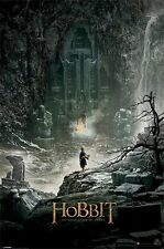 THE HOBBIT ~ LONELY MOUNTAIN 24x36 MOVIE POSTER Desolation Of Smaug Bilbo