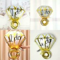 Gold/Silver Big Diamond Ring Foil Balloon Wedding/Engagement Propose Party AB