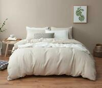 DAPU Pure Linen Duvet Cover Stone Washed 100% European French Flax