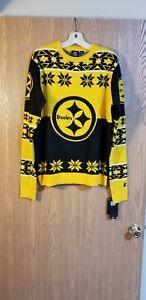 NFL Team Apparel Pittsburgh Steelers Crewneck Sweater Adult M NWT