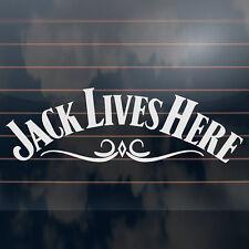 Jack Lives Here - Jack Daniels fridge car window Sticker 340mm